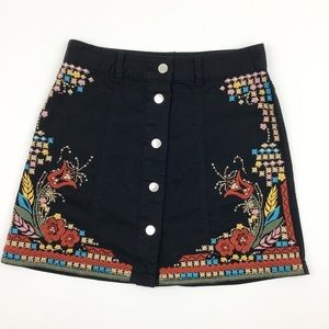 River Island Embroidered Skirt US Size 4